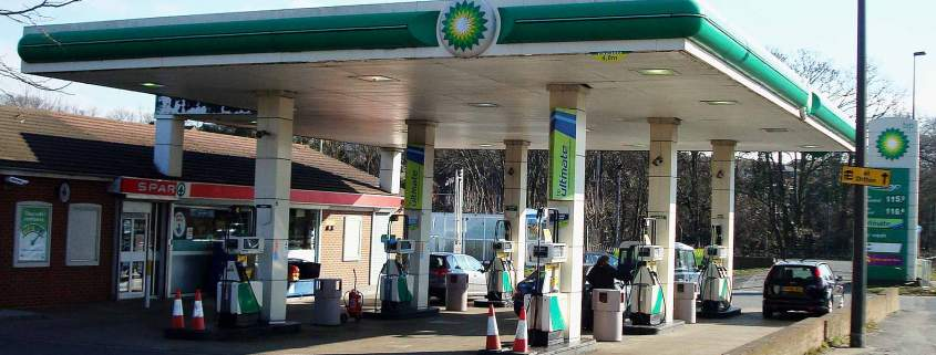 UK petrol station