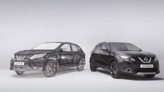Qash converter: Nissan creates world's largest 3D pen sculture