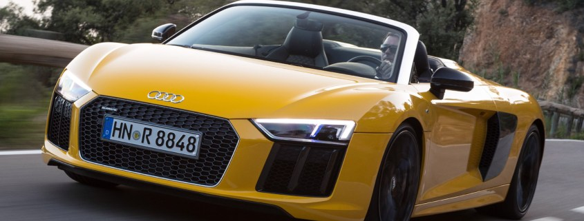 2016 Audi R8 Spyder review: open-air V10 thunder