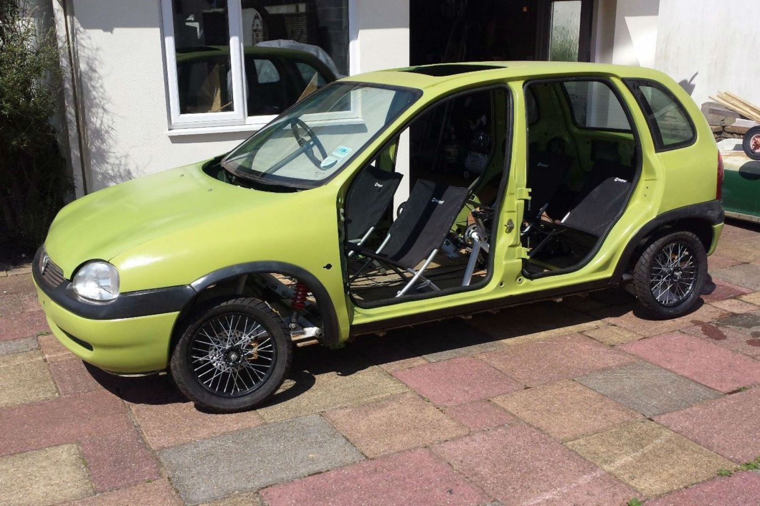 Chucklevision: pedal-powered Vauxhall Corsa for sale on eBay