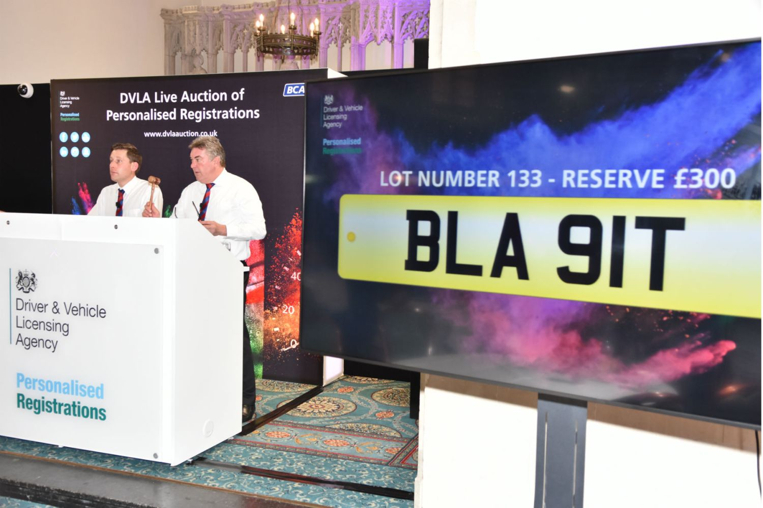 How does the DVLA come up with the number plates?