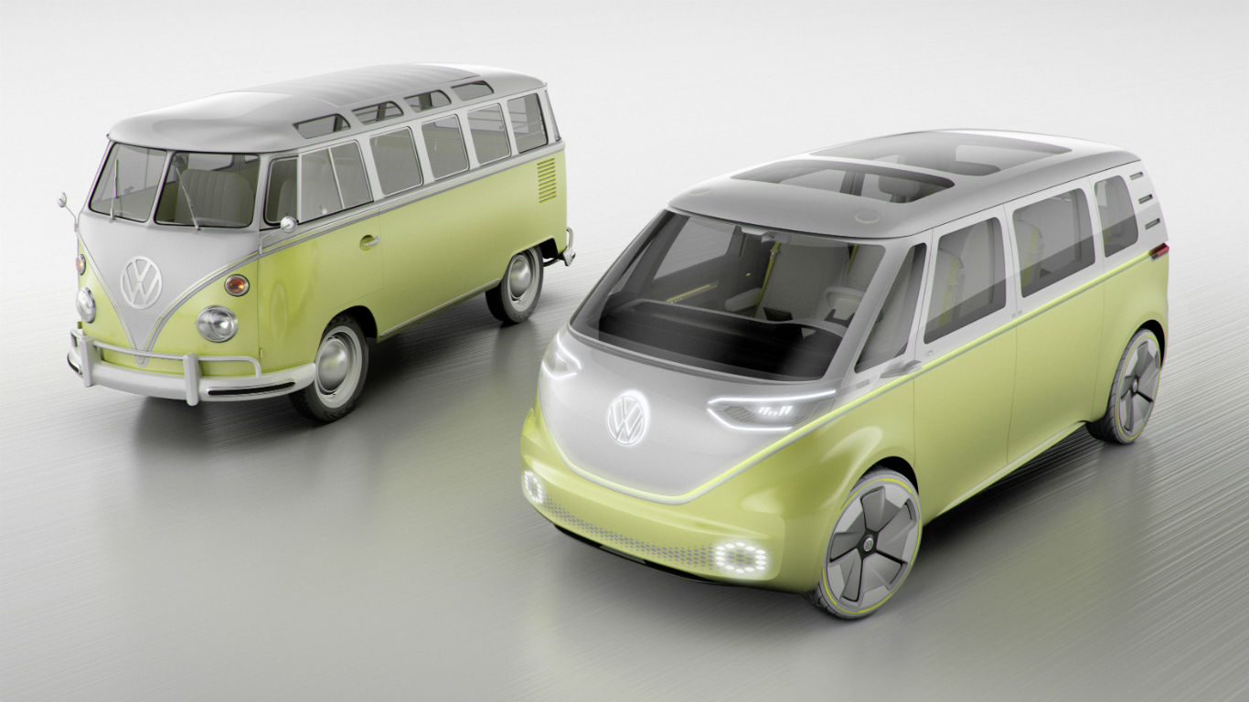 Flower power: Volkswagen I.D. Buzz concept revealed at Detroit
