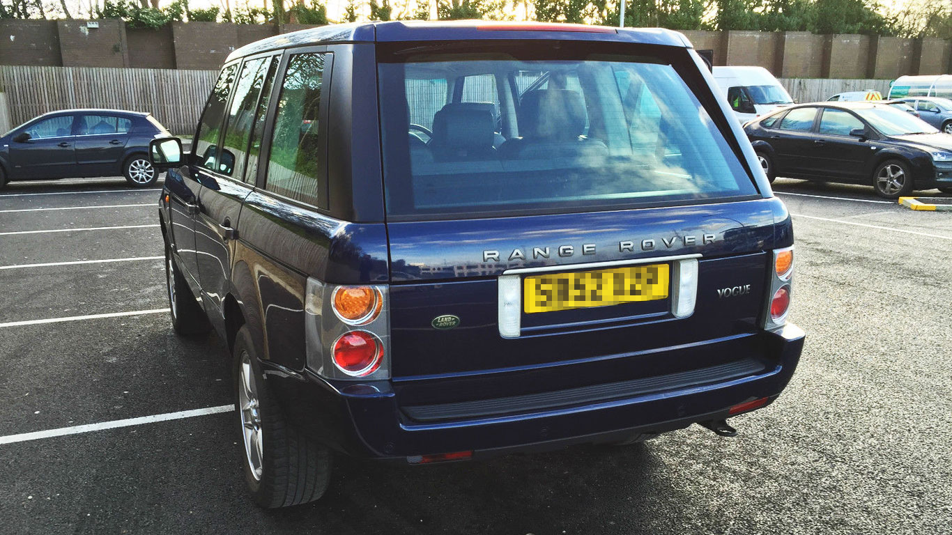 Range Rover which George Michael crashed into Snappy Snaps now on eBay