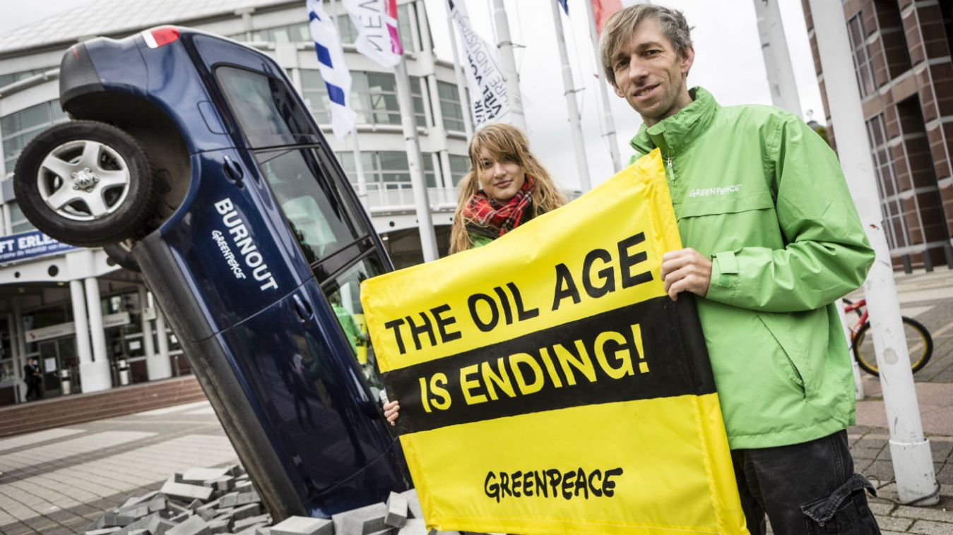 Why is Greenpeace protesting when even the supercars are hybrids?
