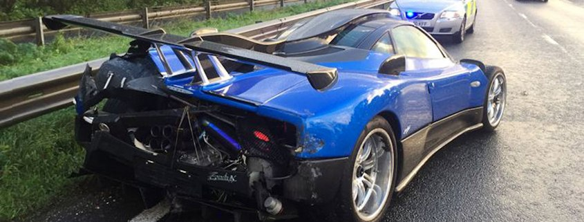Pagani Zonda crashed in West Sussex