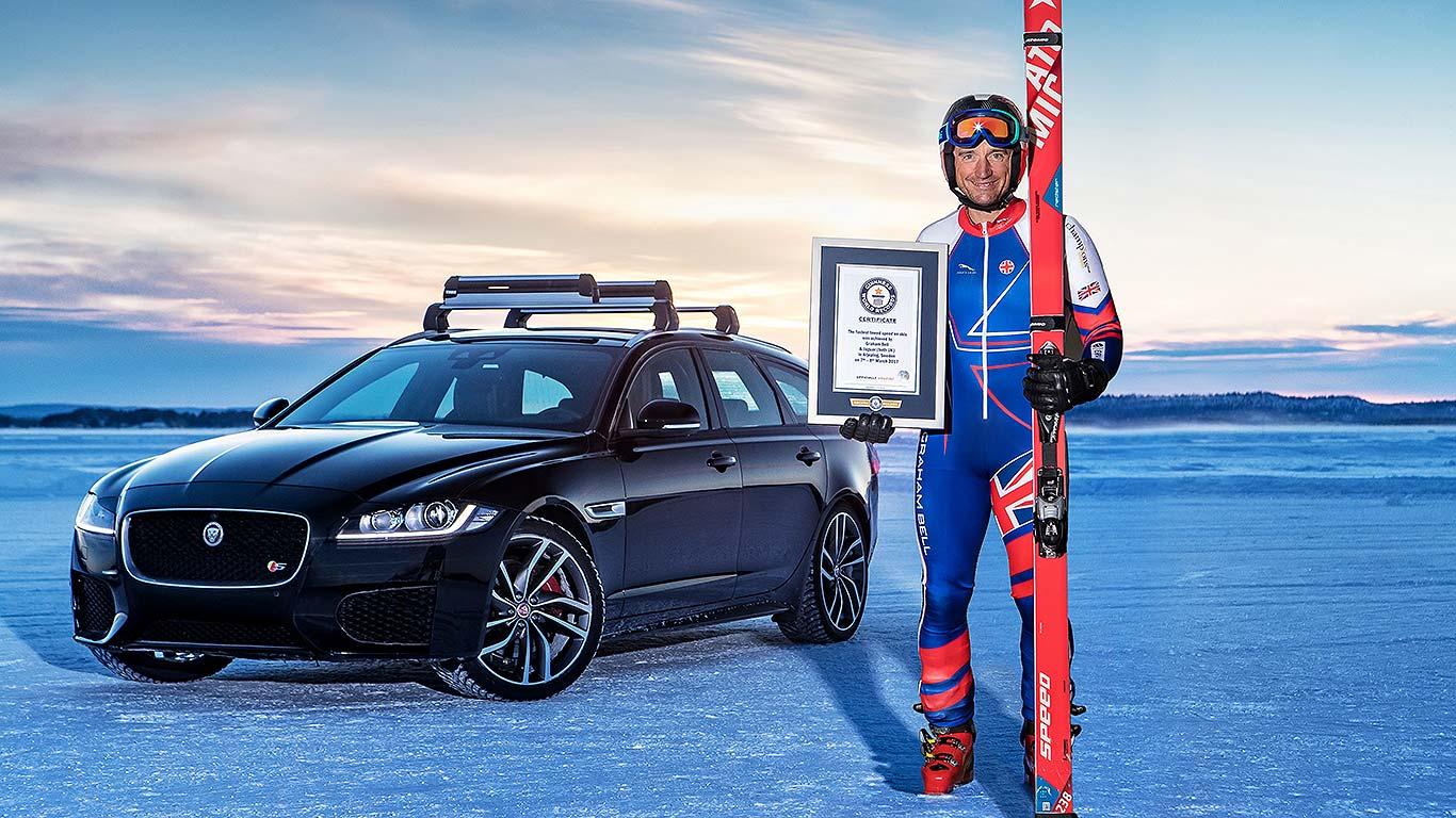 Jaguar and Graham Bell Guinness World Record
