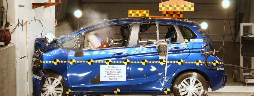 NHTSA crash test: Honda Fit