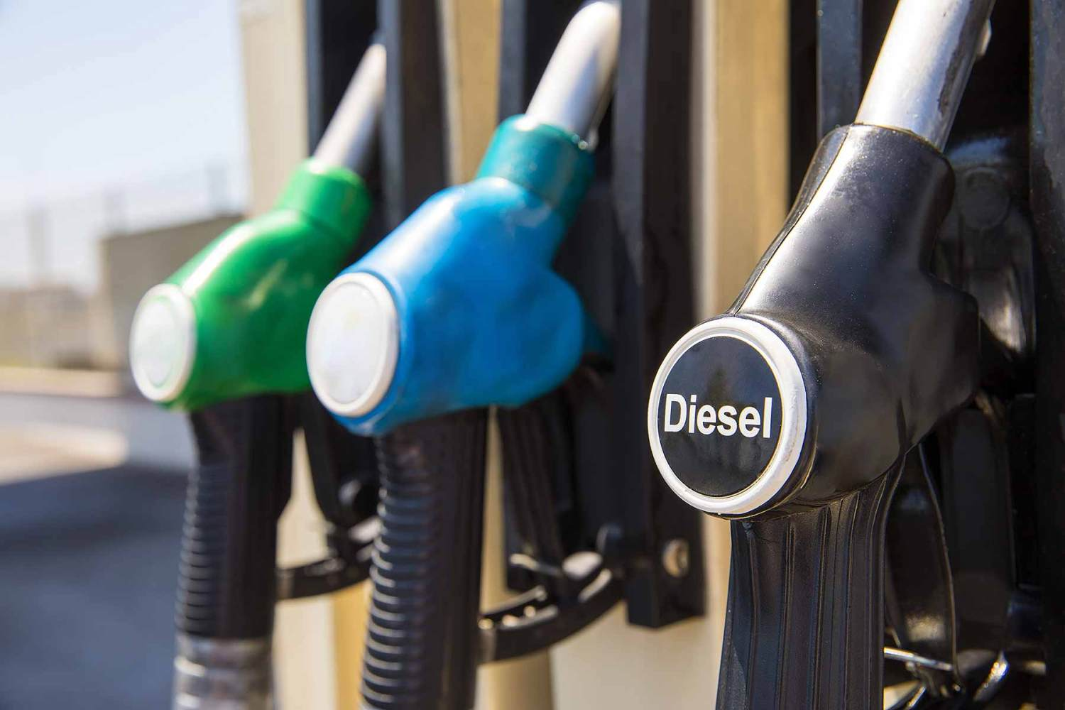 Diesel pump at a filling station: the fuel's popularity is declining