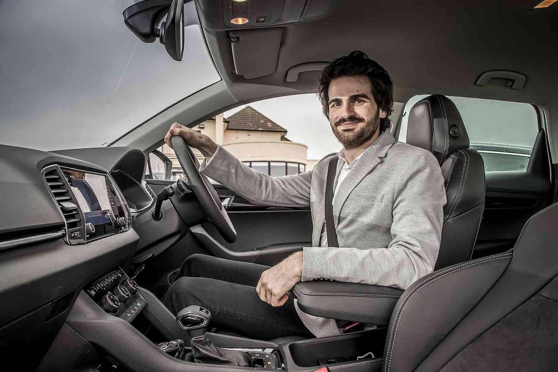 Skoda company car driver