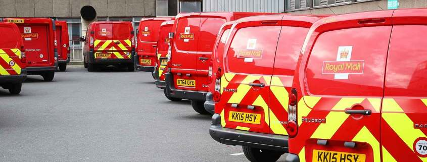 Royal Mail fleet of vans