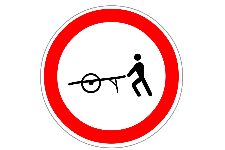 No handcarts or wheelbarrows France