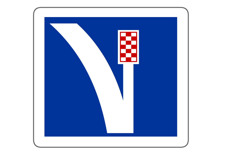 Emergency lane with gravel pit Switzerland