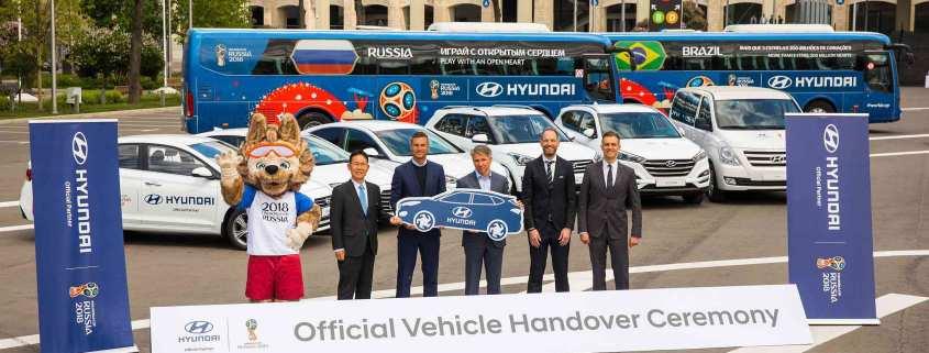 2018 World Cup Hyundai handover ceremony