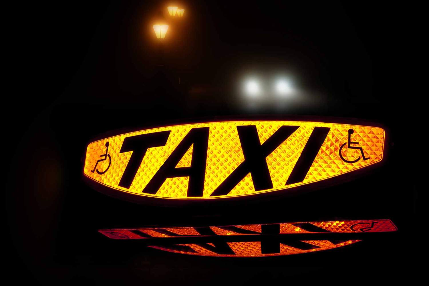 Disabled-friendly taxi sign