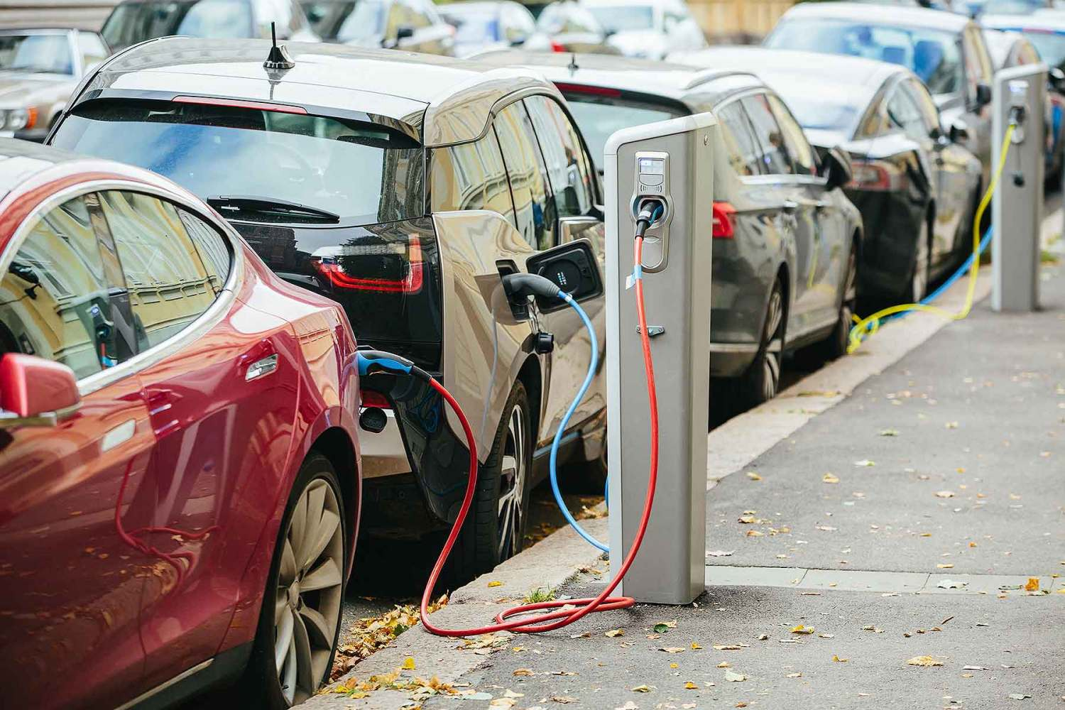 Electric car on-street charging