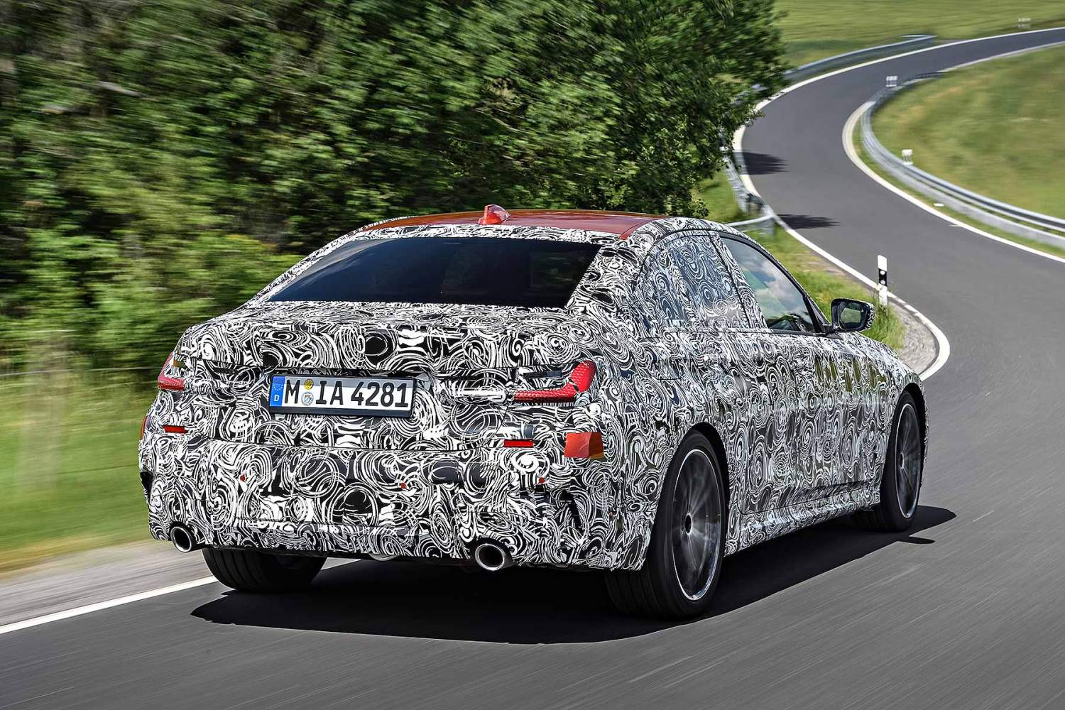 New 2019 BMW 3 Series prototype Nurburgring test