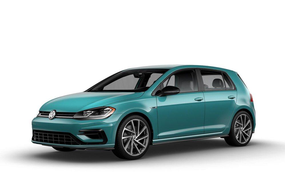 2019 VW Golf R Caribbean green