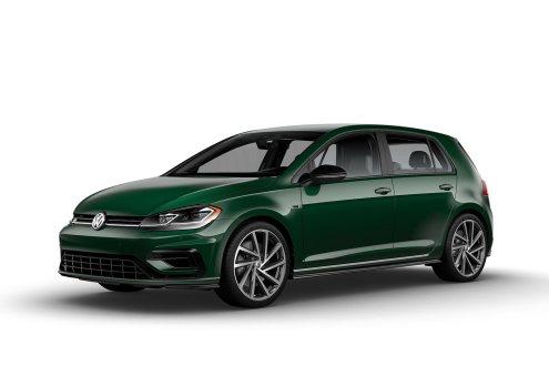 2019 VW Golf R Irish Green