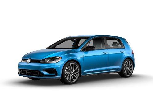 2019 VW Golf R Techno Blue