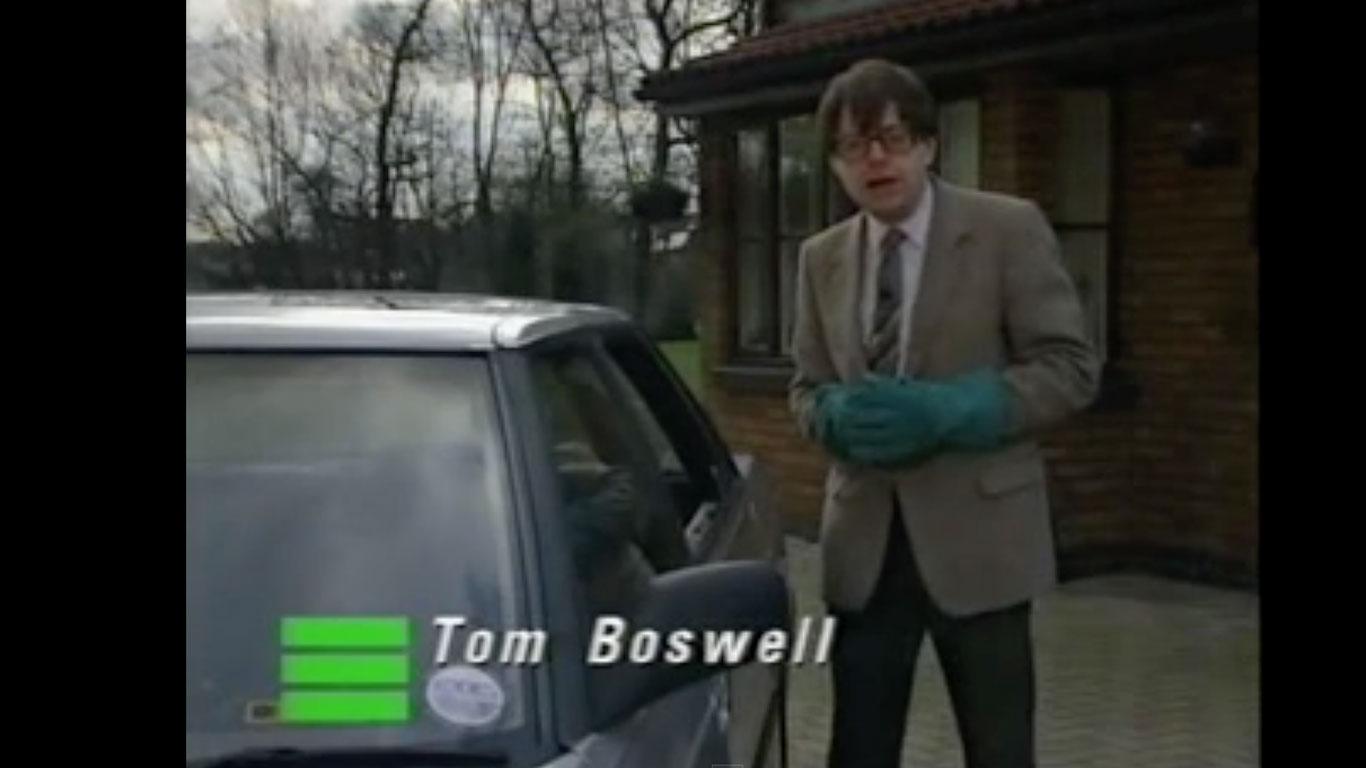 Top Gear presenter Tom Boswell