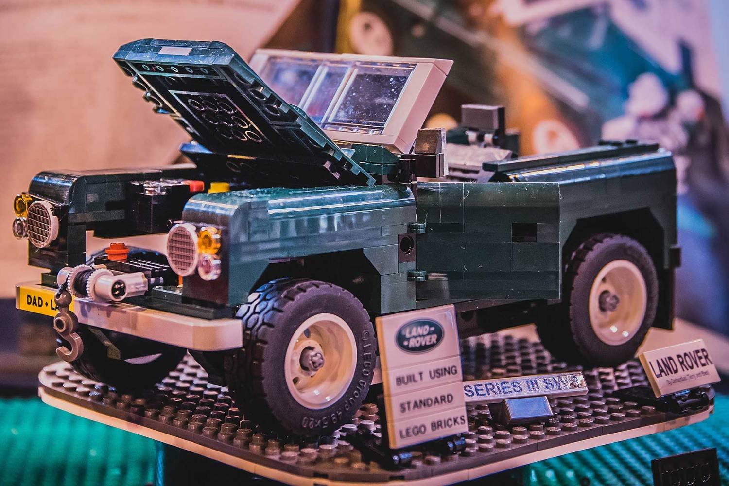 Fan-built LEGO Land Rover at the 2018 NEC Classic Motor Show