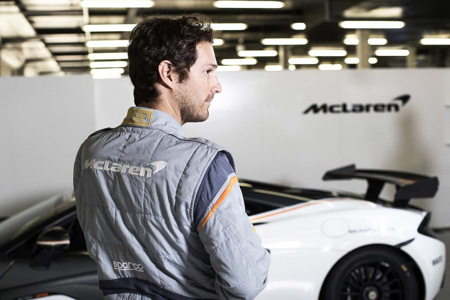 Bruno Senna wearing the Sparco McLaren SP16+ race suit