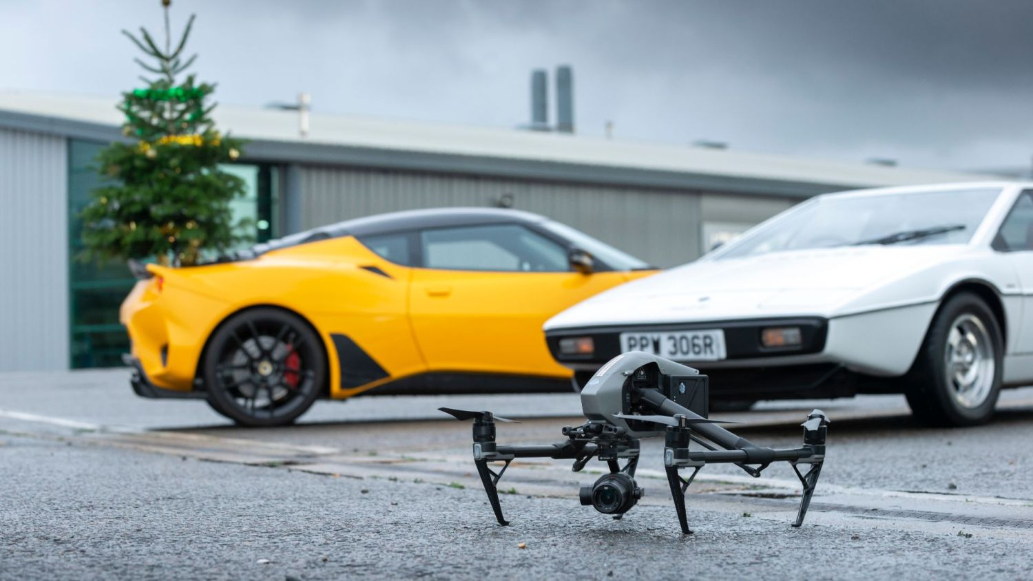 #MerryDriftmas video included some exciting Lotus Cars cameos including a familiar Lotus Esprit