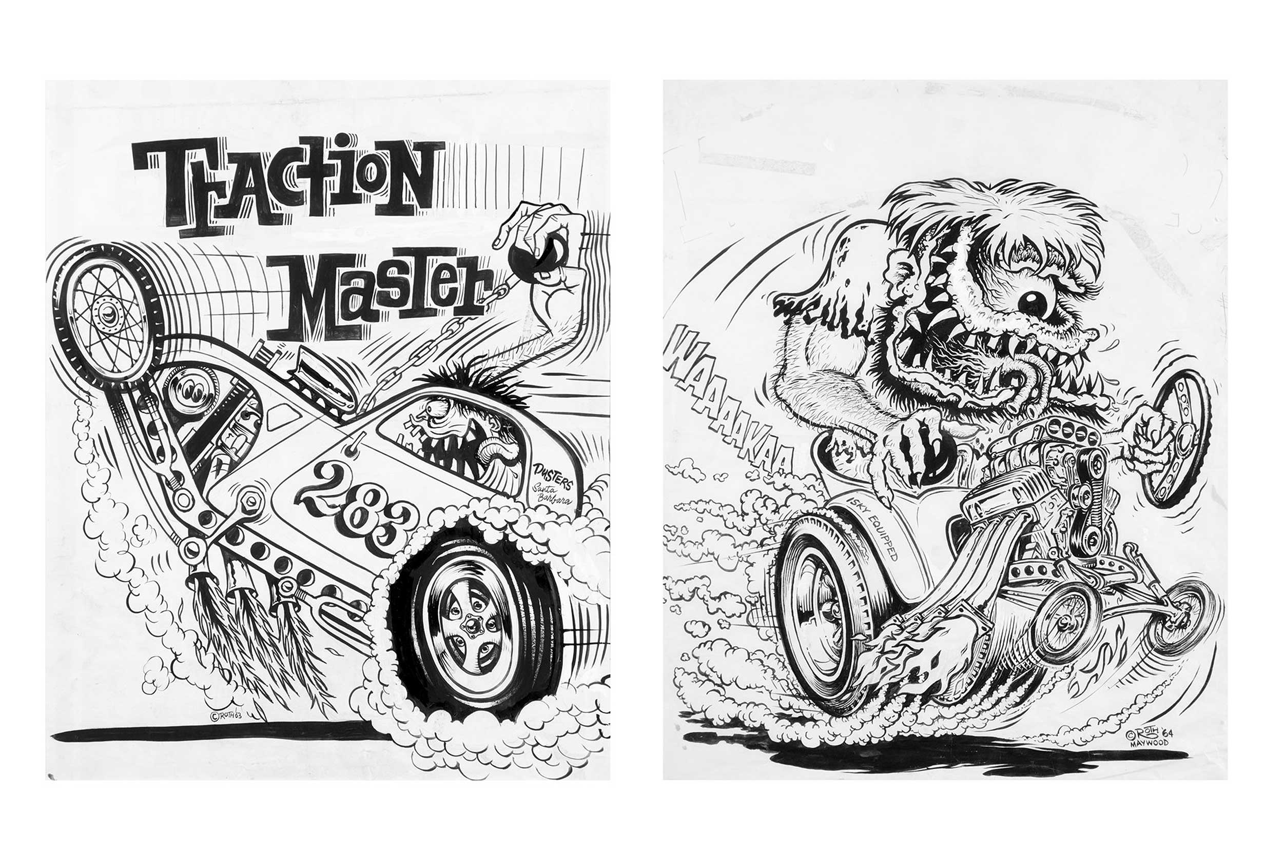 Traction Master and Isky Equipped by Roth Studios, 1963