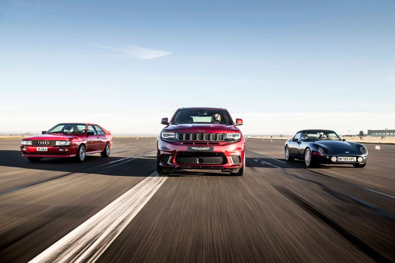 Jeep Trackhawk versus European performance heroes