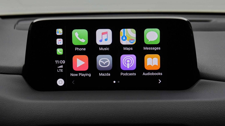Apple CarPlay Mazda MZD Connect screen