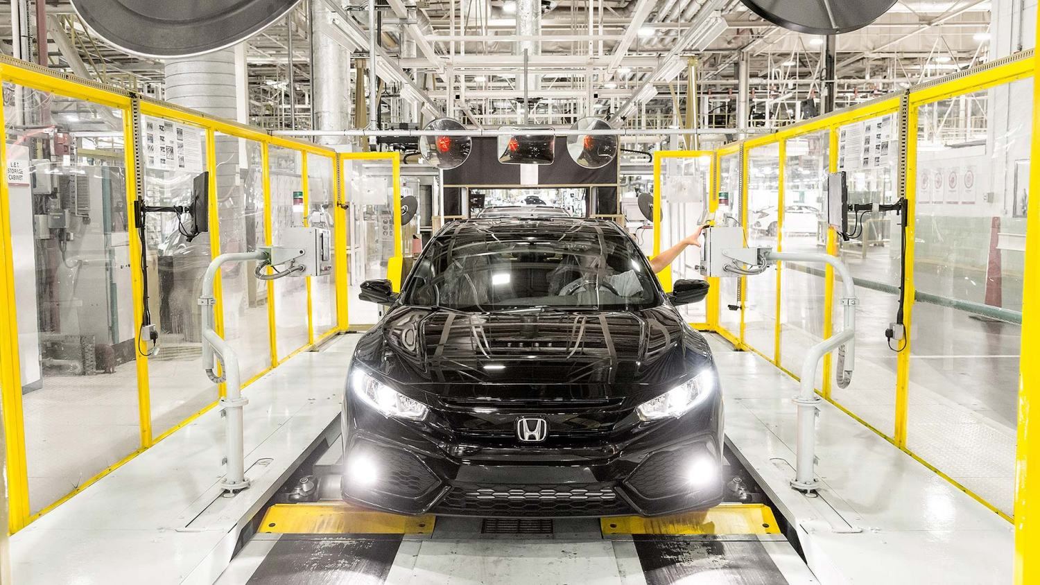 Honda Civic production line in Swindon