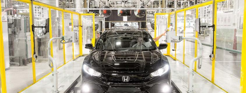 Honda Civic production line in Swindon