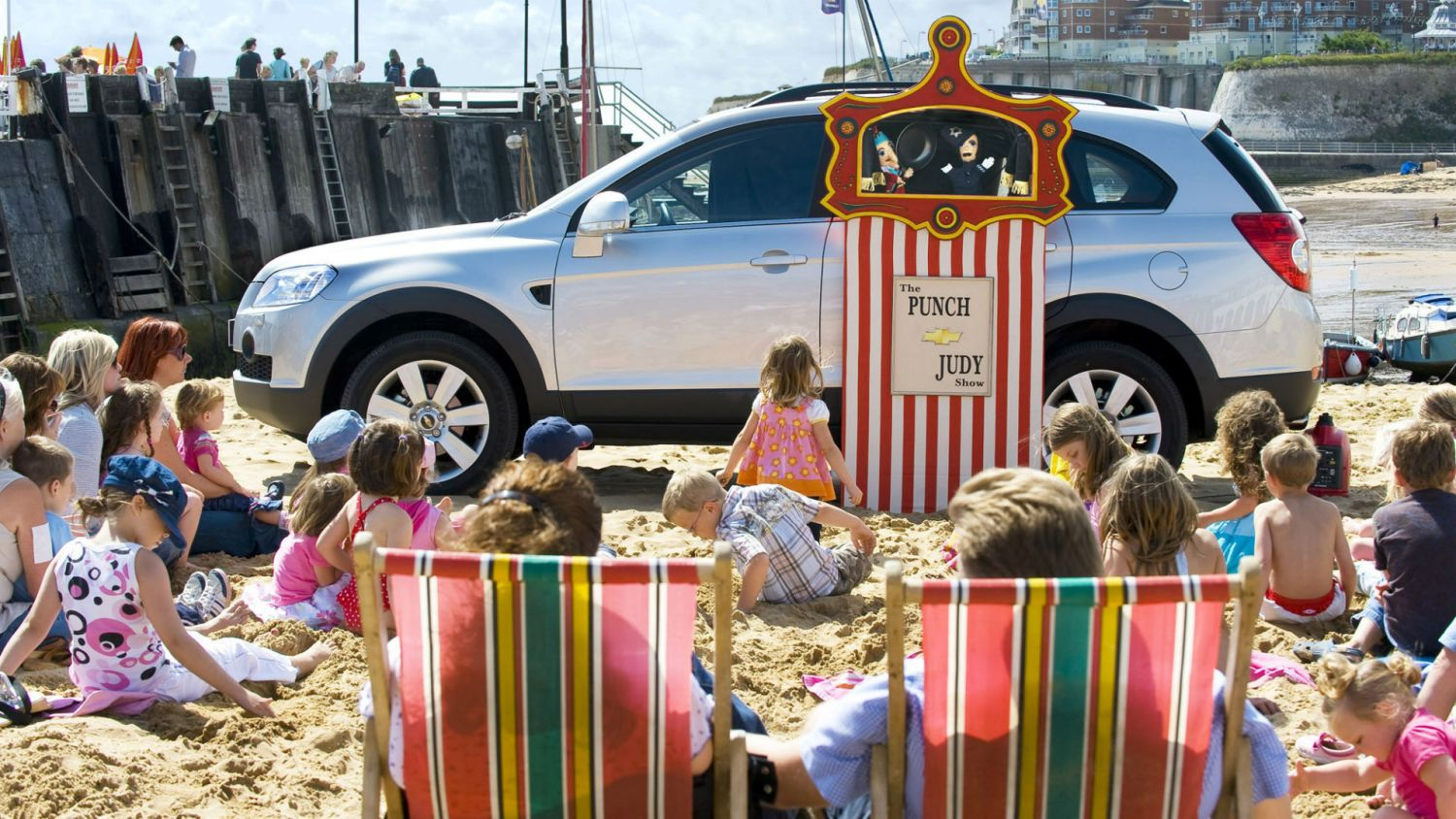 Chevrolet at the seaside