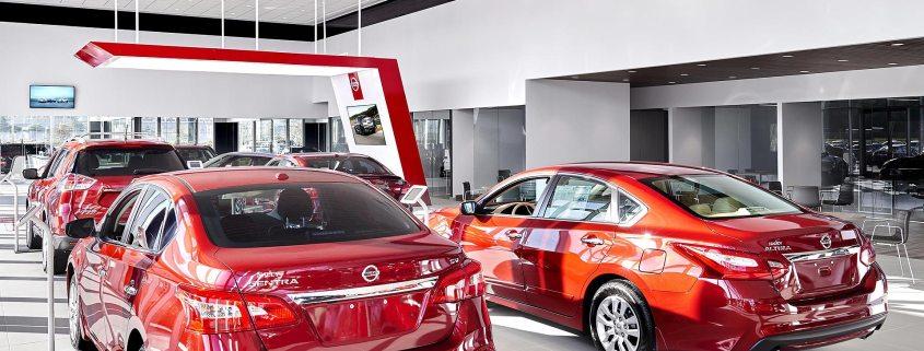 New car showroom