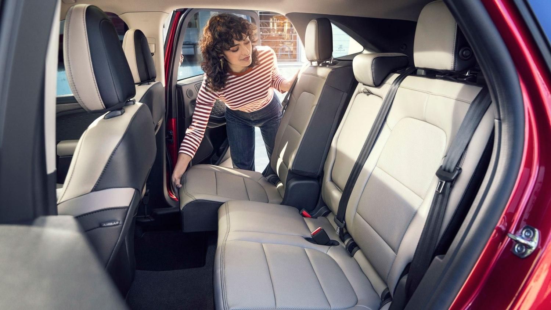 New Ford Escape sliding rear seats