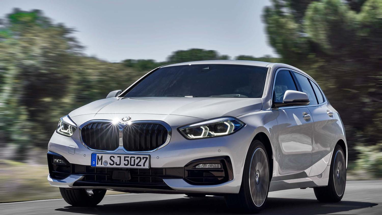 New BMW 1 Series in white