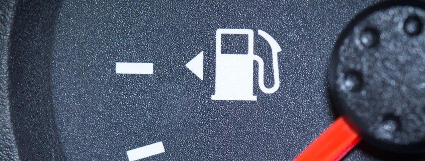Fuel gauge arrow