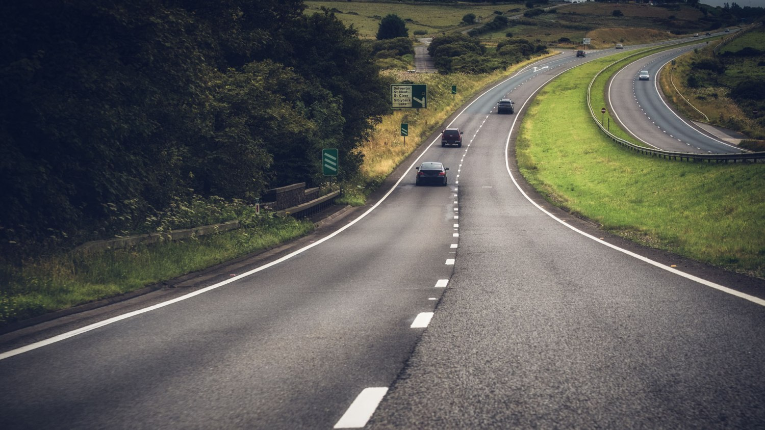 The A30 in Cornwall