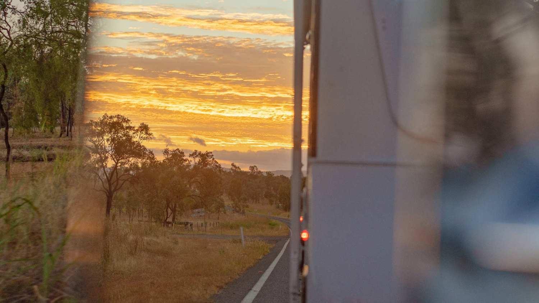 Caravan in mirror