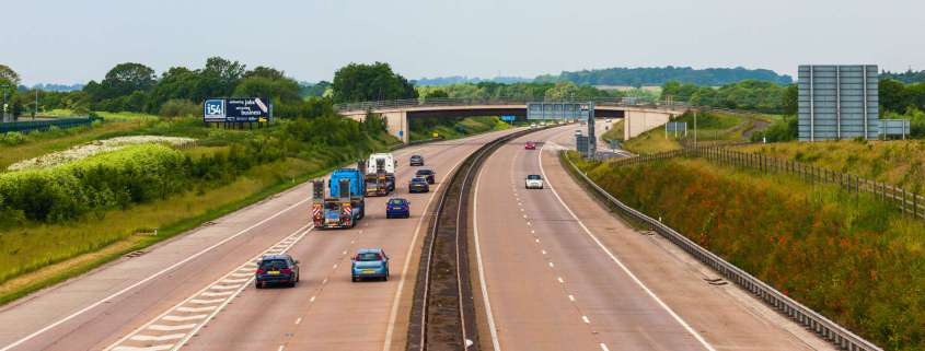 Highways England testing for a clear white line highway