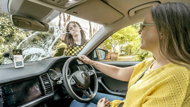 Using the Skoda Parent Taxi app