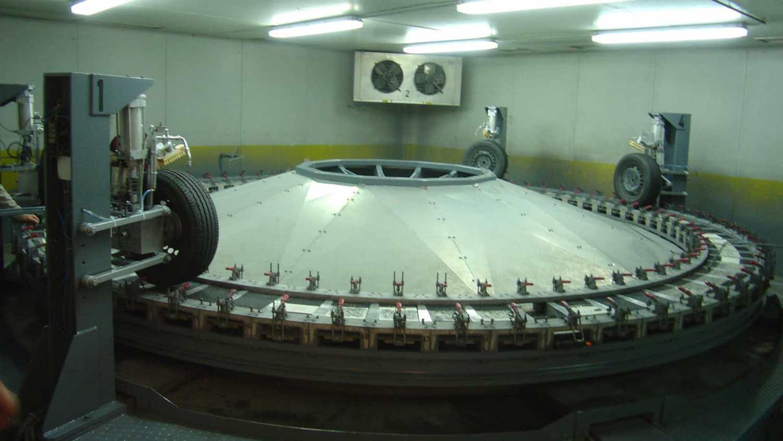 White line testing wheel in Madrid
