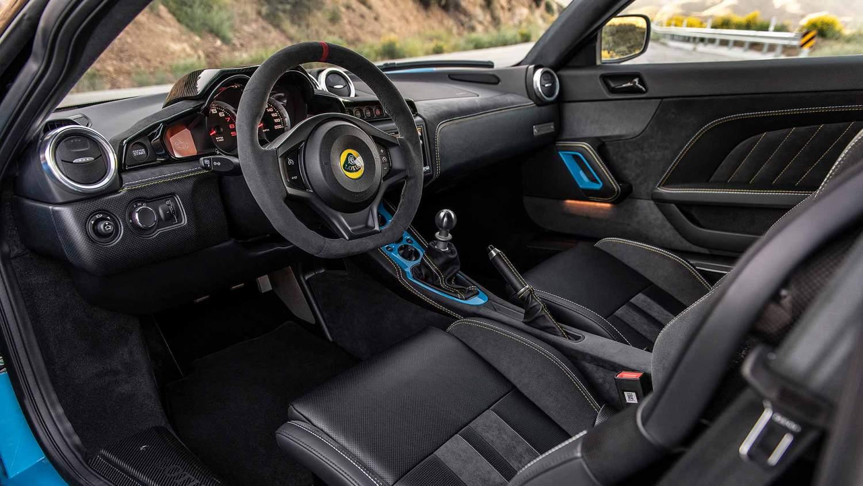Lotus Evora GT Cyan Blue interior