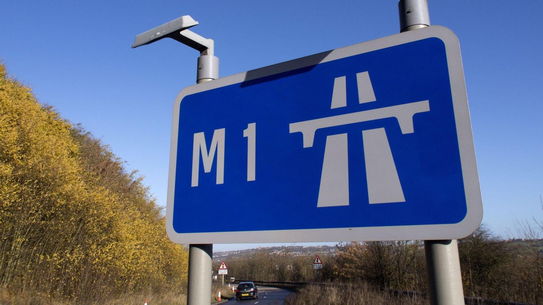 M1 motorway sign