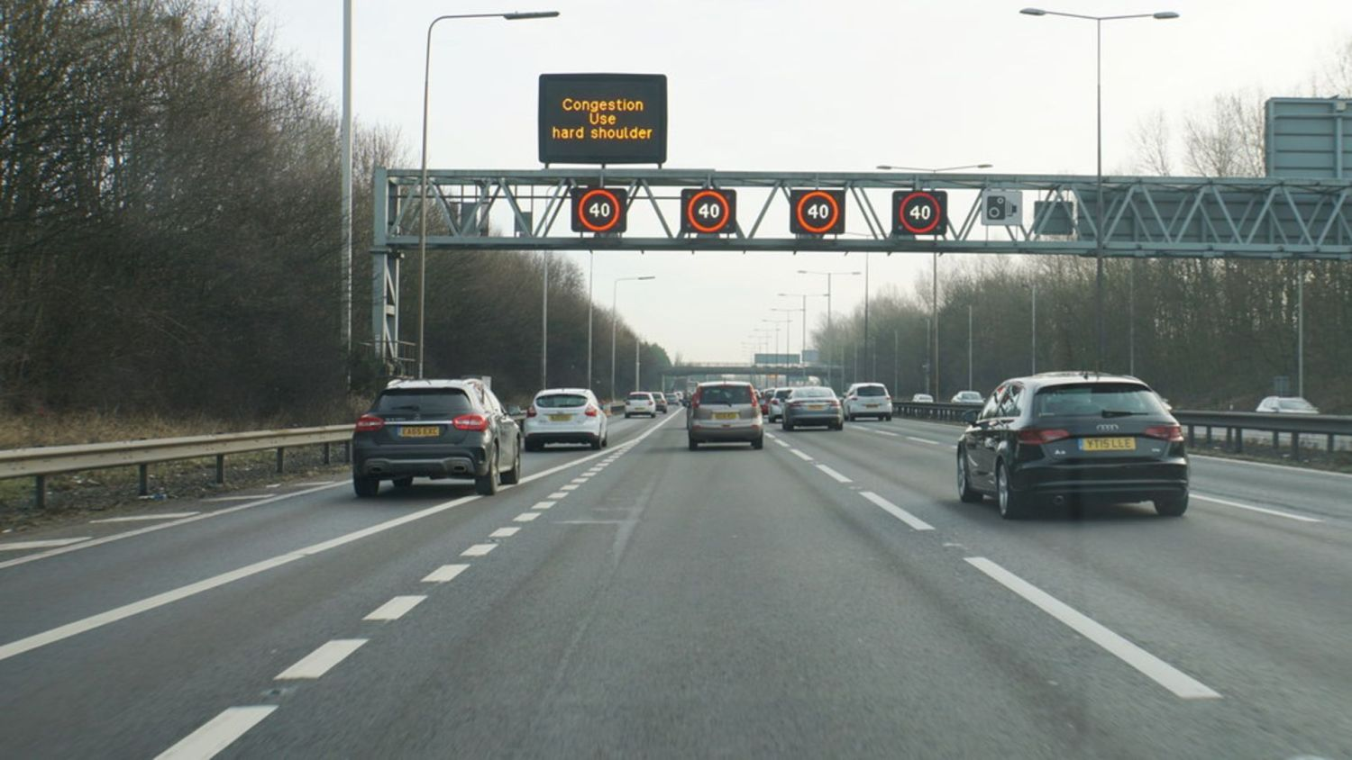Smart motorway hard shoulder