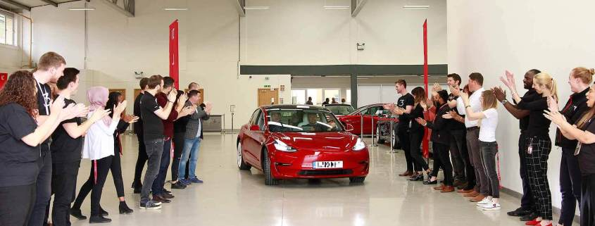 Tesla Model 3 UK deliveries