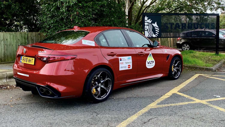 Alfa Romeo Giulia Quadrifoglio at Starbucks