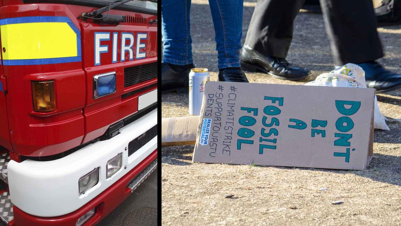 Extinction Rebellion fire engine