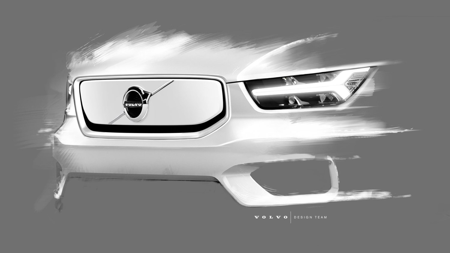 eletric Volvo XC40 front grille