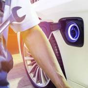 Electric car garage finder tool